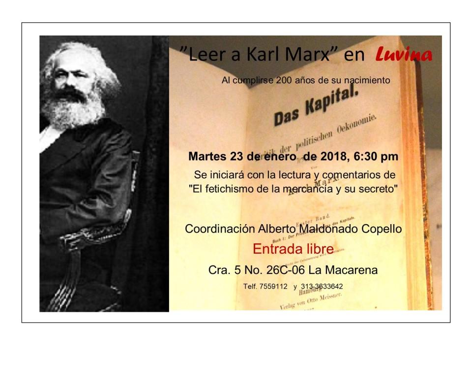 Primera sesión de la lectura de Karl Marx 2018